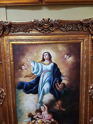 Oil Painting On Canvas In Beautiful Gold Frame - 16