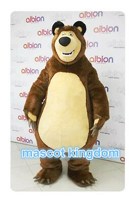 Birthday Party Fancy Dress Adult Outfit Masha Bear Ursa Grizzly Mascot Costume