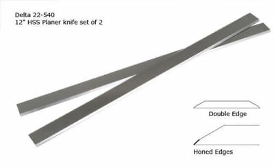 "Delta 12-1/2"" Planer Blade for Delta 22-540 replaces 22-547 Double Edge Set of 2"