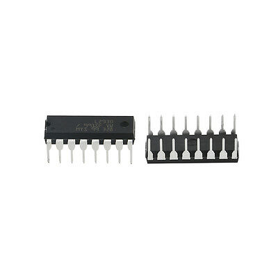 Newest 10pcs L293D DIP 16-pin IC Stepper Motor Drivers Controllers Black