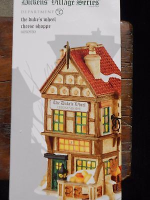 Dept 56 Dickens' Village The Duke's Wheel Cheese Shoppe Nib