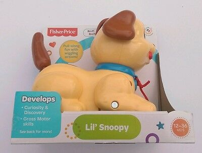 Brilliant Basics Little Snoopy Restage Fisher Price Toddler Push Play Kids Toy