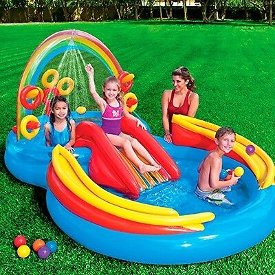 Rainbow Ring Inflatable Play Center, 117 X 76 X 53 , Ages 2+ outdoor garden