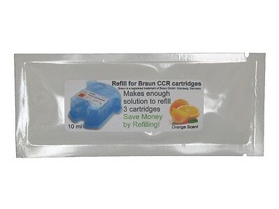9 Refills/3Pkt for Braun® Clean & Renew® Charge Cartridges Pulsonic Syncro CCR3