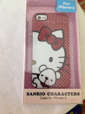 Sanrio Characters Hello Kitty Case For iPhone 5 Red with Hearts Rhinestones