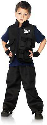 New Child Boys Swat Commander Costume Halloween Outfit S
