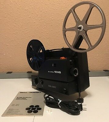 BELL & HOWELL 10MS Super 8/Reg 8 Telecine Projector w/ Variable Speed & New Belt
