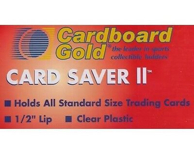 200 Ct Card Saver II Cardboard Gold PSA Graded Semi Rigid Holders CS 2
