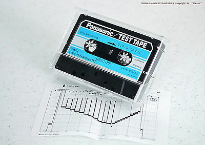 "PANASONIC QZZC-PF ""T.P.S. Level 315Hz.0dB. -20/40dB"" TEST TAPE Cassette Deck NOS"