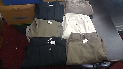 Men's Lot of 6 Casual Pants,Dress Various Sizes Brands,Styles For RESALE
