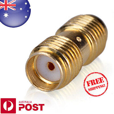 SMA-F to SMA-F Straight Adaptor Connector Gold Plated for Radio Joiner - Z125CF