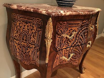 Louis XV style Red marble top Commode