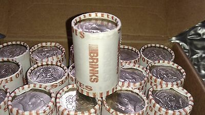 5 Unsearched Half Dollar Rolls Bank Rolled Collectible Coins Junk Drawer Silver