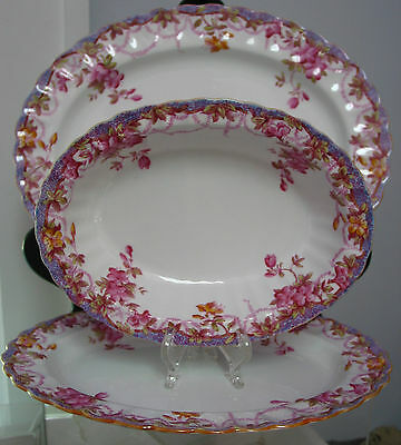 set of  3 Spode Copeland Irene Platters/Dish , England, #Y6470 Floral ,Beautiful