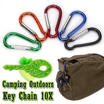 Carabiner Clips Aluminium Alloy Camping Outdoors Snap Hooks Bag Key Chain 10x
