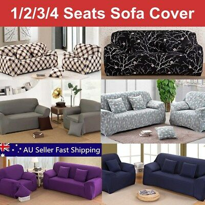 1 2 3 4 Seater L Shape Stretch Chair Loveseat Sofa Couch Protect Cover Slipcover