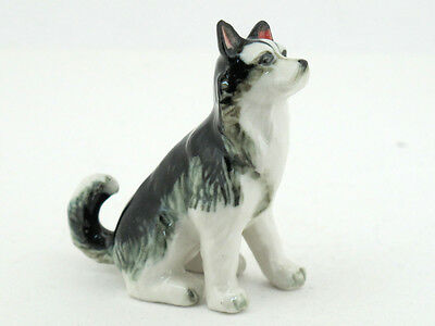 Craft Miniatures Collectible Ceramic Cute Alaskan Dog FIGURINE Animals