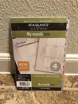 At-A-Glance Planner Refill 2019 Size 4 Jan Dec Monthly Traditional White Tabbed