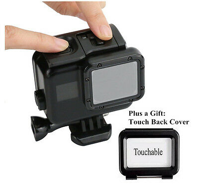 New Black Waterproof Housing Case With Touch Screen Backdoor For Gopro Hero 5