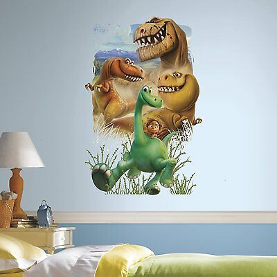 RoomMates RMK3125TB The Good Dinosaur Gang Peel and Stick Giant Wall Decals, x