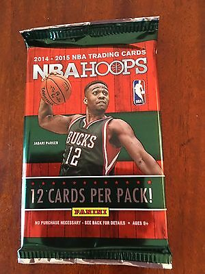 2014-2015 NBA Basketball Cards Panini Hoops Hobby pack! 1:12 chance of auto