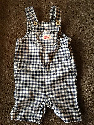Country Road Super Cute Baby Boy Check Overalls 18-24 months