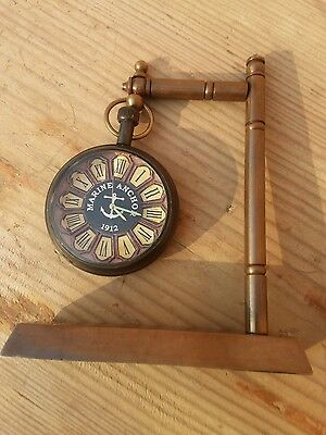Antique Brass Vintage Nautical Heavy Table Decor Stand Special Dial Clock Watch
