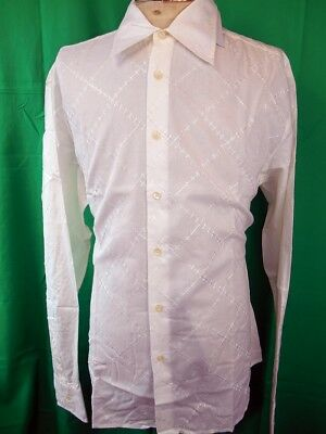 Vintage Cream Cotton Phillips Melbourne Dress Shirt New/Old Stock Never Worn XL
