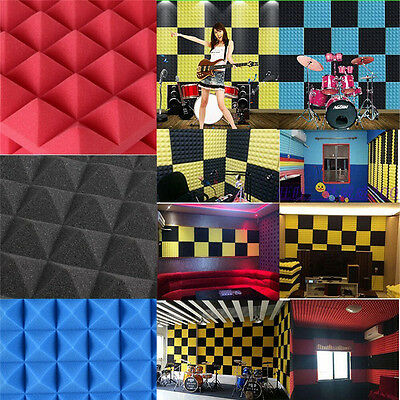 1Pc Soundproofing Acoustic Wedge Foam Tiles Wall Panels KTV Mural Decor 30x30cm