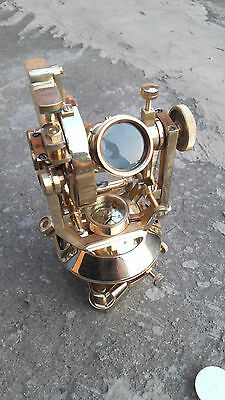 Antique Fully Brass Nautical High Ultra Precision Theodolite Optical Alignment