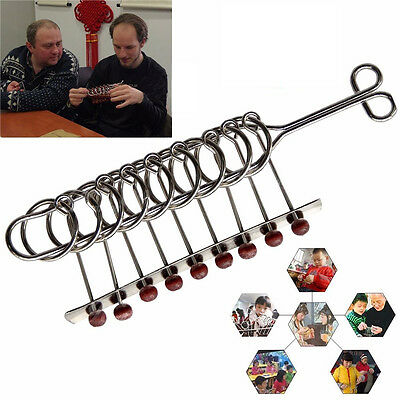Creative 22cm Standard Chinese 9 Rings Wire & Metal Puzzle Toy Brainteaser