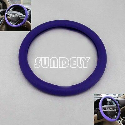 Brand new Car steering wheel cover 36cm - 40cm Silicone Soft Cover, Purple