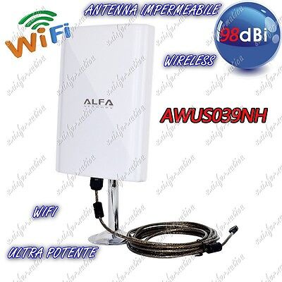Antenna Impermeabile Wireless Amplificatore Wifi Ultra Potente Esterno Interno
