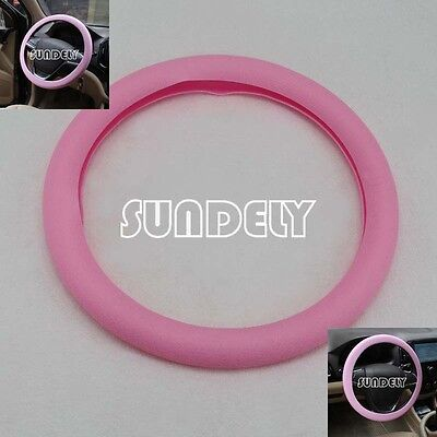 Brand new Car steering wheel cover 36cm - 40cm Silicone Soft Cover, Pink