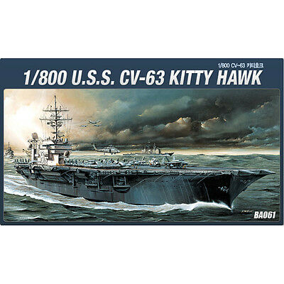 Academy 1/800 #14210 CV-63 USS KITTY HAWK Plastic Model Kit Military Ship