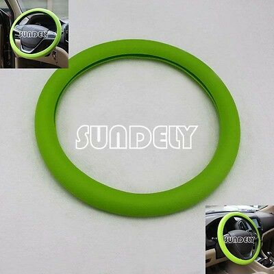 New Car steering wheel cover WHEEL Leather Texture Soft Cover Skin HOT Green