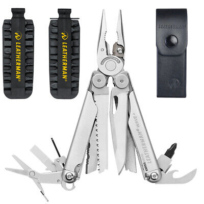 New Leatherman Wave Std Stainless Steel Multi-Tool + Nylon Sheath + Bonus Torch
