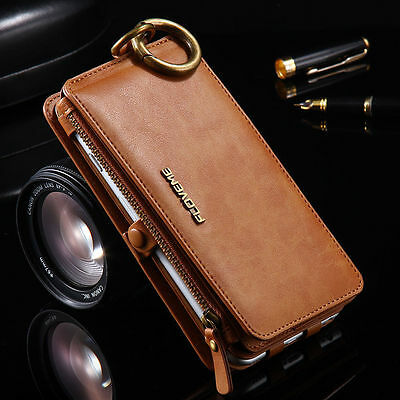 Genuine Leather Flip Wallet Phone Case Cover for iPhone 6 7 Plus Samsung S7 S6
