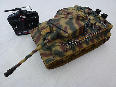 Taigen 1/16 2.4 GHz RC German Tiger 1 Late Camouflage BB Tank Plastic Tracks