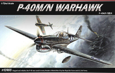 Academy Plastic Model Kit 1/72 #12465 P-40M/N WARHAWK Fighter Military Aircraft