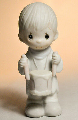 Precious Moments: I'll Play My Drum For Him - E-5384 - Nativity Figure