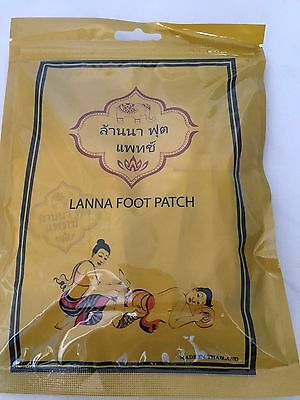 Thai Lanna Foot Patch Herb Natural Detox Foot Health Care Patch 1Pack/10 Pcs