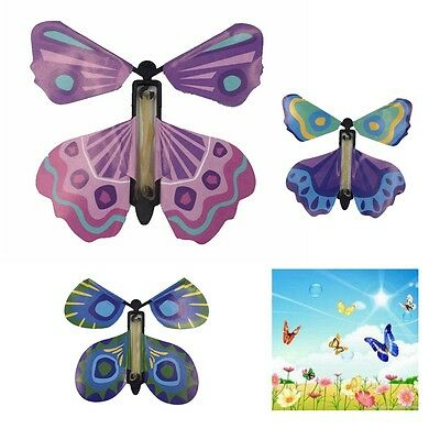 5Pcs Magic Colorful Flying Butterfly Change From Empty Hands Tricks Prop Toy New