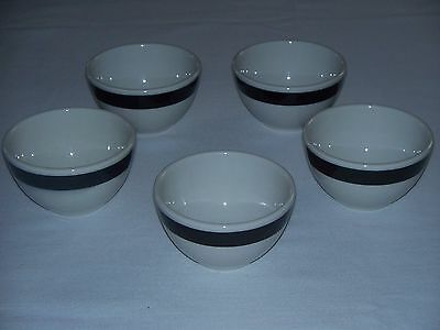 Sterling Vitrified Custard Cups Set of 5 East Liverpool Ohio