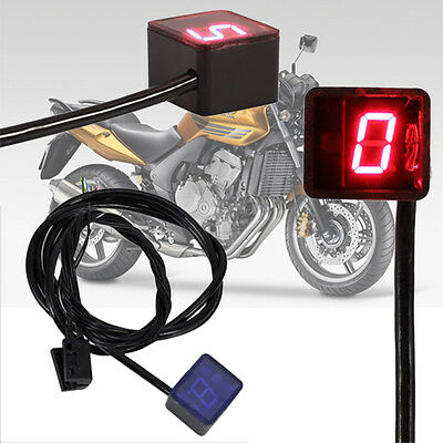 Red LED Digital Gear Indicator for Motorcycle Display Shift Lever Sensor UK