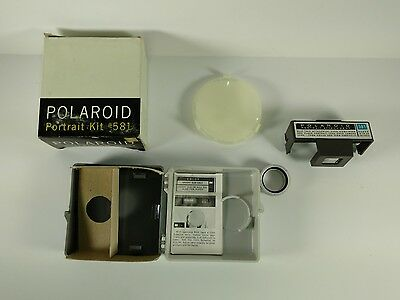 Polaroid 581 Portrait Kit Vintage With Box For Use with Color Pack Camera