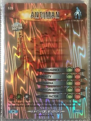 Dr Doctor Who Battles in Time Super Rare Antiman Holographic Card  #635