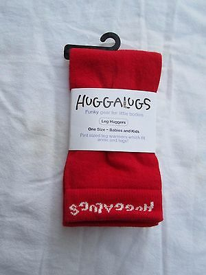 Baby boys girls or unisex Huggalugs leg or arm warmers   Red