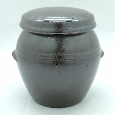 Thick earthenware jar with stripes small pot for food storage
