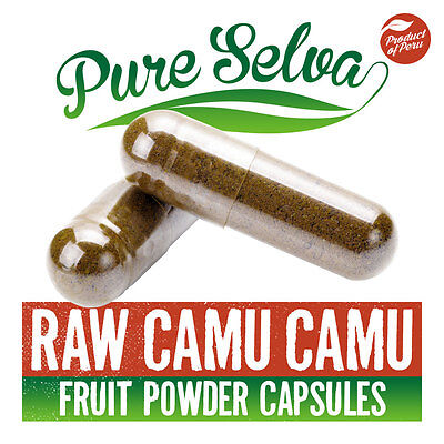 100% RAW CAMU CAMU CAPSULES Raw fruit powder / high vitamin C diet supplement